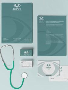Design de papelaria para marca CEPOV
