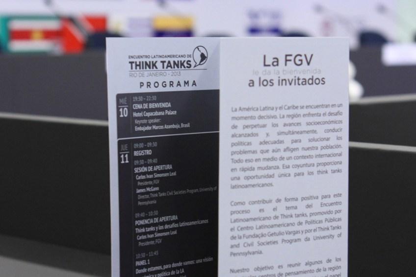 Material promocional para eventos. Think Tanks FGV