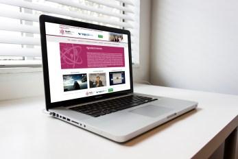 imagem laptop apresentando layout responsivo criado para website Glap - evento FGV . Criação e desenvolvimento por TH-PROJECT