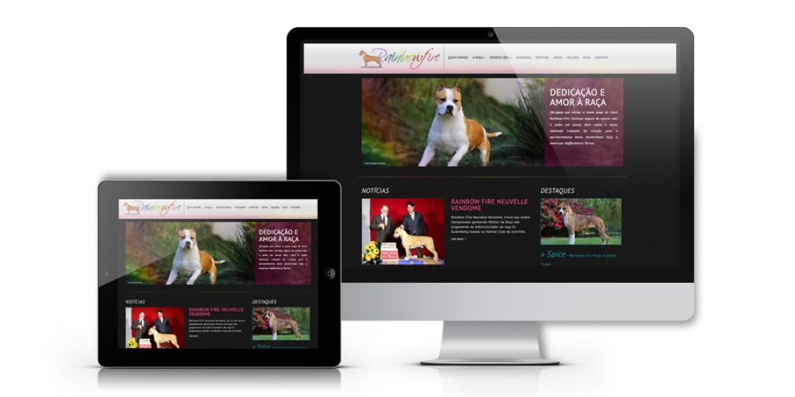 imagem de computador e tablet apresentando layout responsivo adequado em diferentes situações