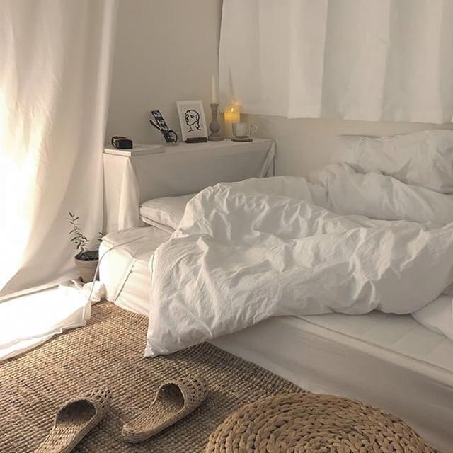 แต่งห้องนอนสไตล์เกาหลี มินิมอล นอนบนพื้น