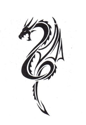 Here is the Dragon Tattoo Design is that show how easy this drawing to be