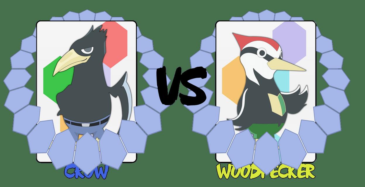 Crow VS Woodpecker By AskingMyValentine On DeviantArt