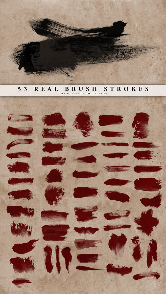 Real Brush Strokes Set by doodle-lee-doo