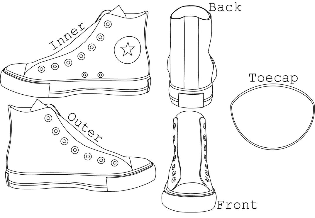 Paper Shoes Template. 3d shoe template paper boot template