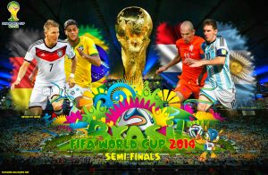 Fifa World Cup 2014 Semi-finals Wallpaper by jafarjeef