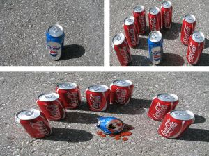 Coca Cola gang found Pepsi alone.