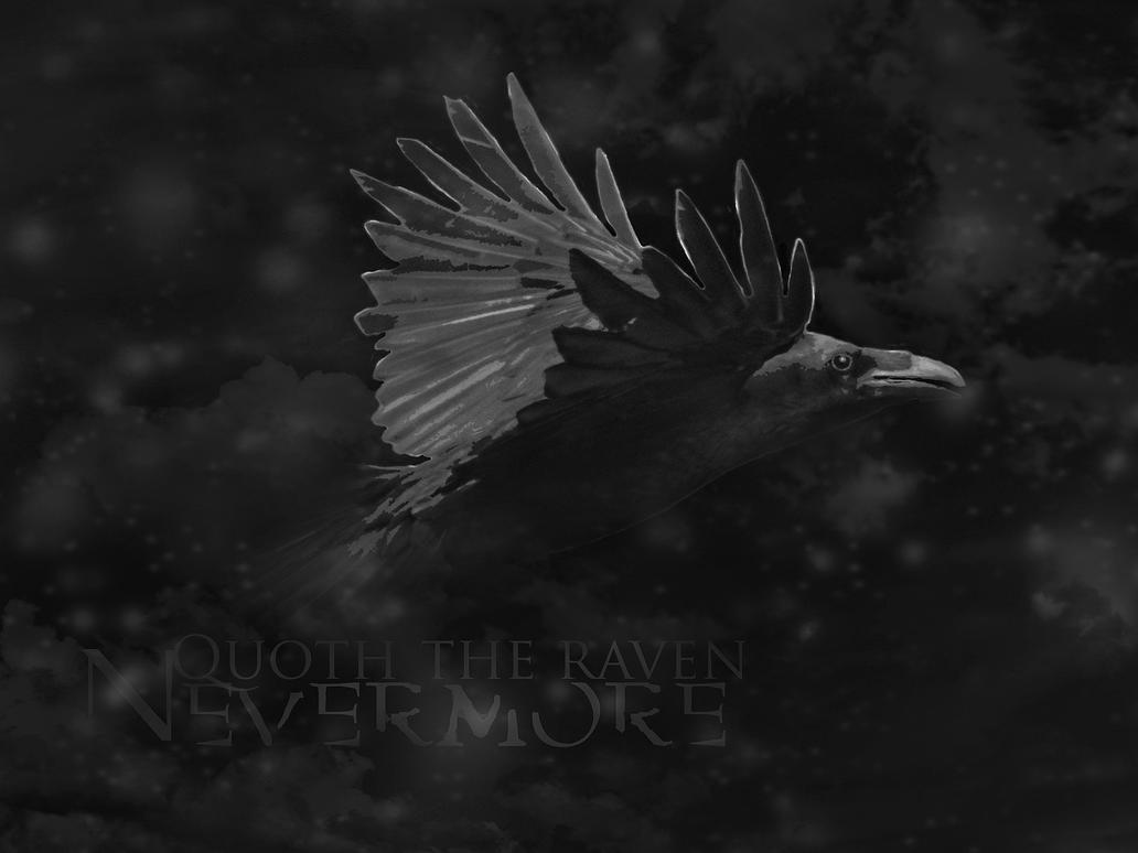 Quoth Raven Never More Tombstone