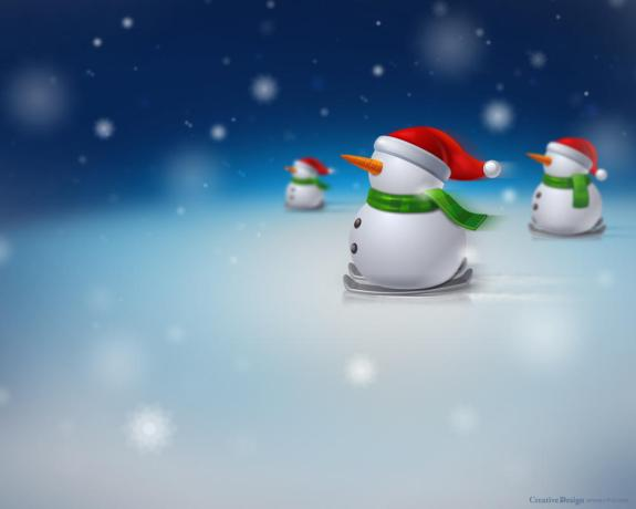Snowman, Merry Christmas Wallpaper