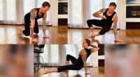 Mike Fitch does bodyweight exercises with a side exercise
