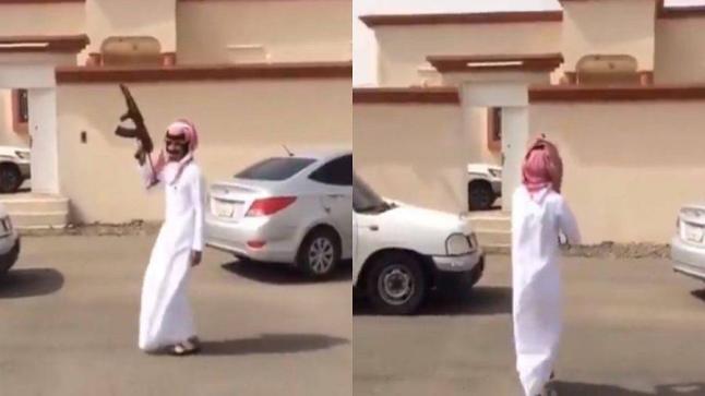 القبض على مطلق النار من سلاح رشاش في بيشة ..فيديو