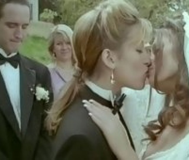 Stunning Young White Chick In Wedding Dress Having Lesbian Quickie
