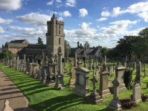 Church and graveyard by Stirling Castle.