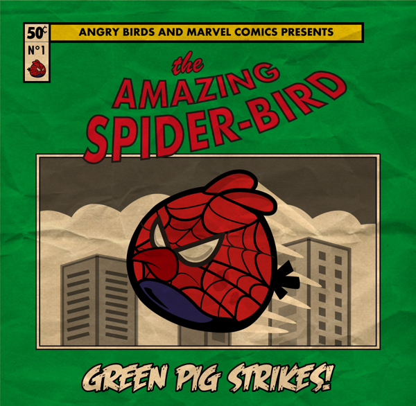 Angry Marvel Heroes by Fabio Di Corleto Spider Bird