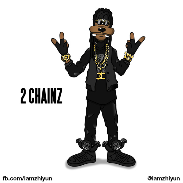 Cartoon X POP by Zhi-Yun Zhang 2 chainz