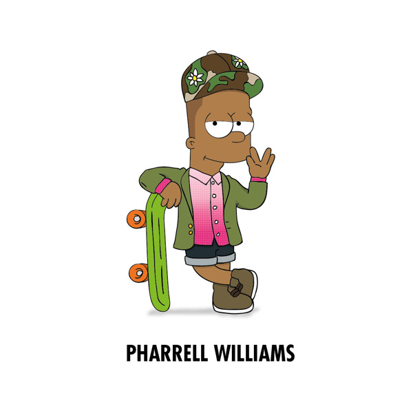 Cartoon X POP by Zhi-Yun Zhang Pharrell williams