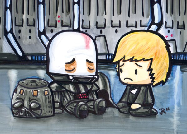 Cute Emo Pop Culture Icons Luke Skywalker Darth Vader