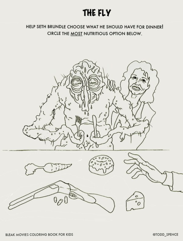 Bleak Movies Coloring Book The Fly