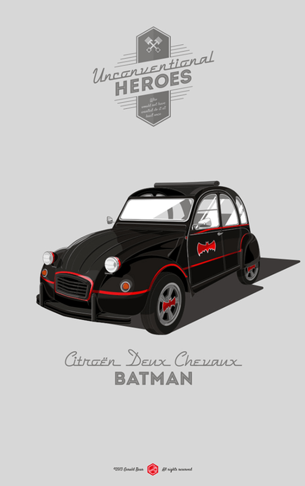 Unconventional Heroes by Gerald Bear Citroen Deux Chevaux
