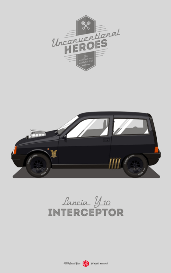 Unconventional Heroes by Gerald Bear Lancia Y10