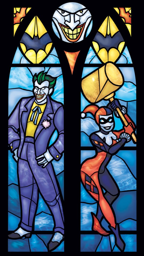 Iconic Stained Glass Joker