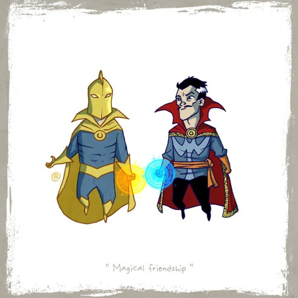 Little Superhero dr strange Batman Darren Rawlings