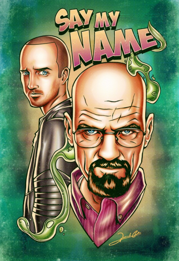 Iconic Series and Movie Heroes breaking bad