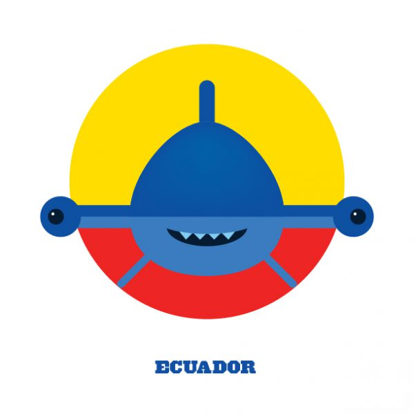 World Cup Postcards Ecuador