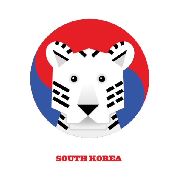 World Cup Postcards South Korea