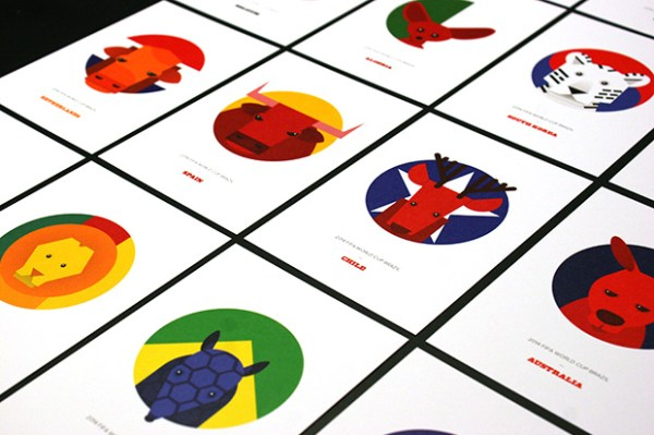 World Cup Postcards all
