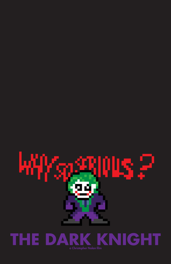 8-Bit Movie Posters by Eric Palmer the dark knight