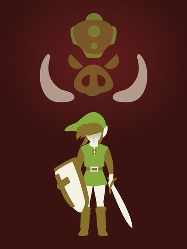 Video Game Character Illustrations by Andrew Heath Legend of Zelda