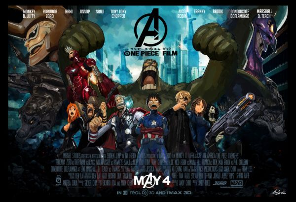 One Piece & Avengers Mashup by Andy Choo