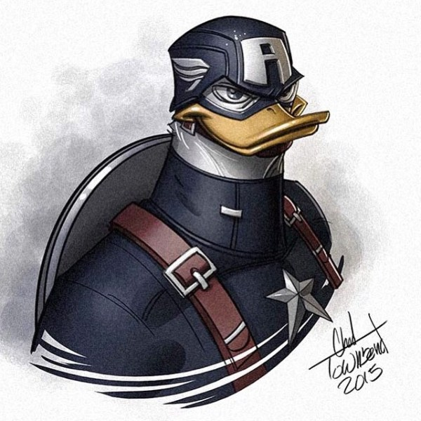 Ducktales Avengers Mash up by Chad Townsend Captain America