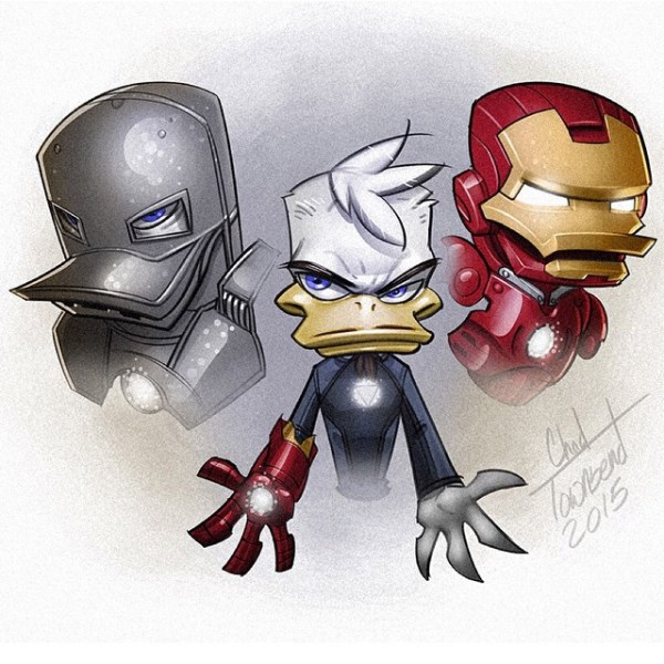 Ducktales Avengers Mash up by Chad Townsend Iron Man