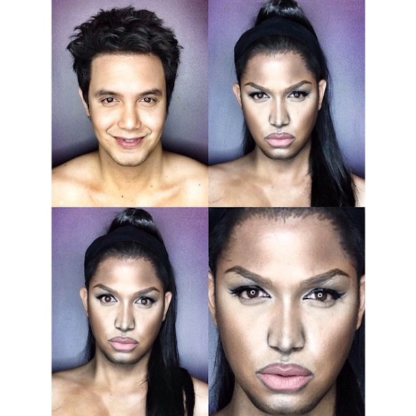 Makeup Transforms Into Various Female Celebrities by Paolo Ballesteros 09