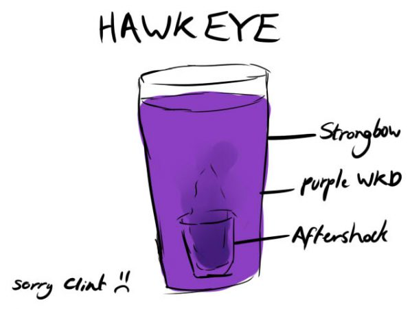 Avengers Cocktails by the-more-i-arty Hawk Eye