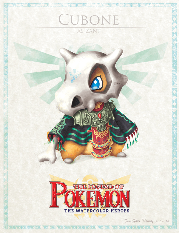 Pokemon Zelda Mashup by David Pilatowsky Cubone