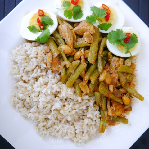 Thai Red Curry Chicken with Green Beans Recipe