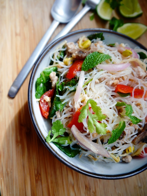 Yum Woon Sen Recipe | Spicy Thai Glass Noodles Salad | ยำวุ้นเส้น