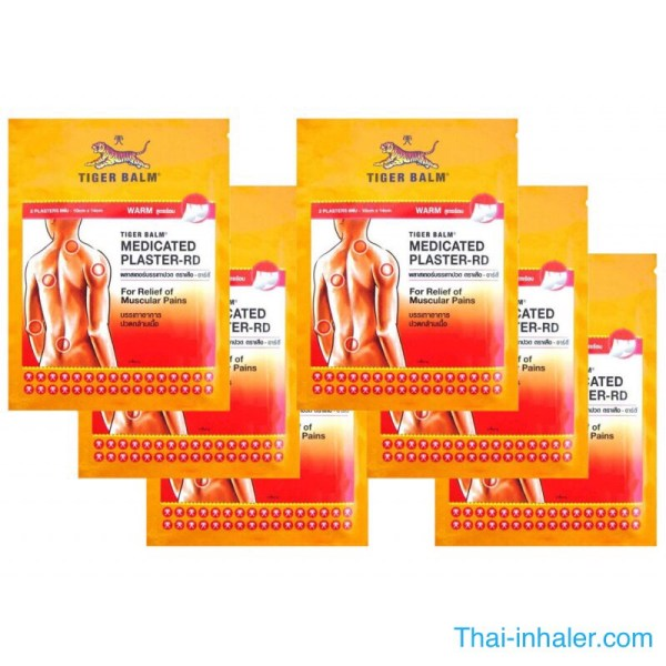 Tiger Balm - Warm Medicated Plaster - 6 Pieces