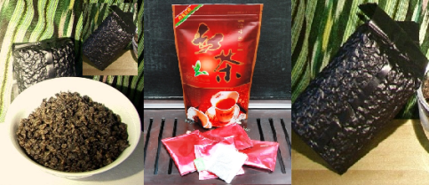 Black Teas from Doi Mae Salong, Nordthailand, im Siam Tee Shop, Gruppencollage