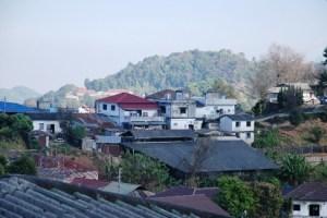 Aussicht von unserem Bungalow im See-See Guest House