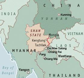 Länder des Goldenen Dreiecks mit Shan State