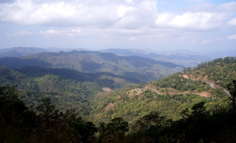 Aussicht vom Viewpoint zwischen Pai und Pangmapha
