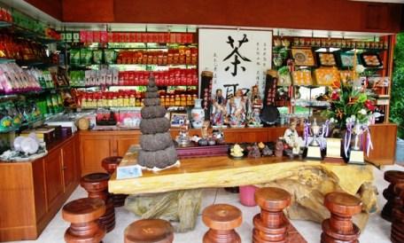 Hauseigener Tee-Shop im Laolee Hill Resort in Doi Wawee, Thailand