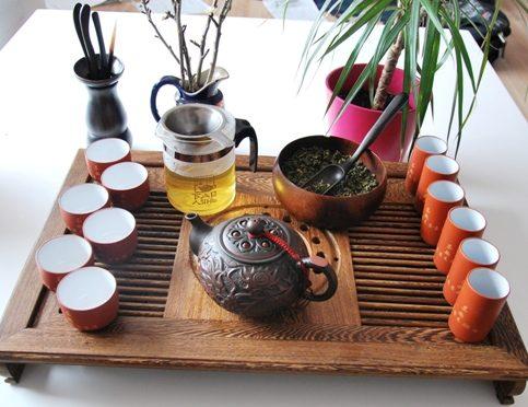 Chinesische Teezeremonie : Gong Fu Cha Setup 2, Der erste Aufguss 1