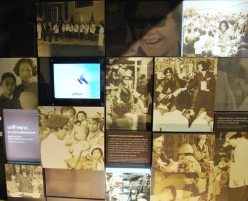 Hall of Inspiration, Doi Tung: Bildtafel zur königlichen Mutter Prinzessin Srinagarindra (Mom Sangwan)