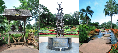 Mae Fah Luang Royal Flower Garden, Werke und Orte 2, Collage