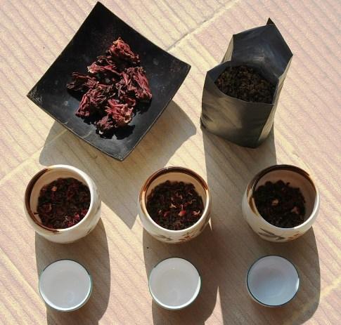 Schwarzer Tee/Hibiskus Rosella Teemischung